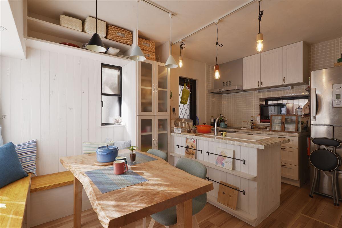 1階キッチン、リビング